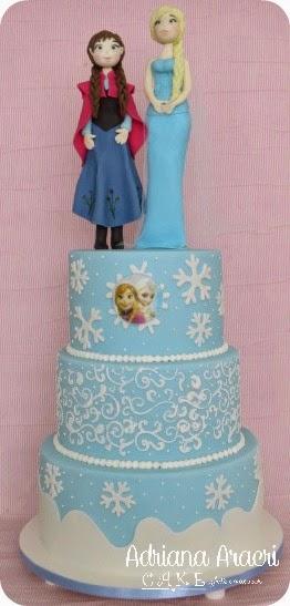 bolo decorado frozen e maas decoradas frozen