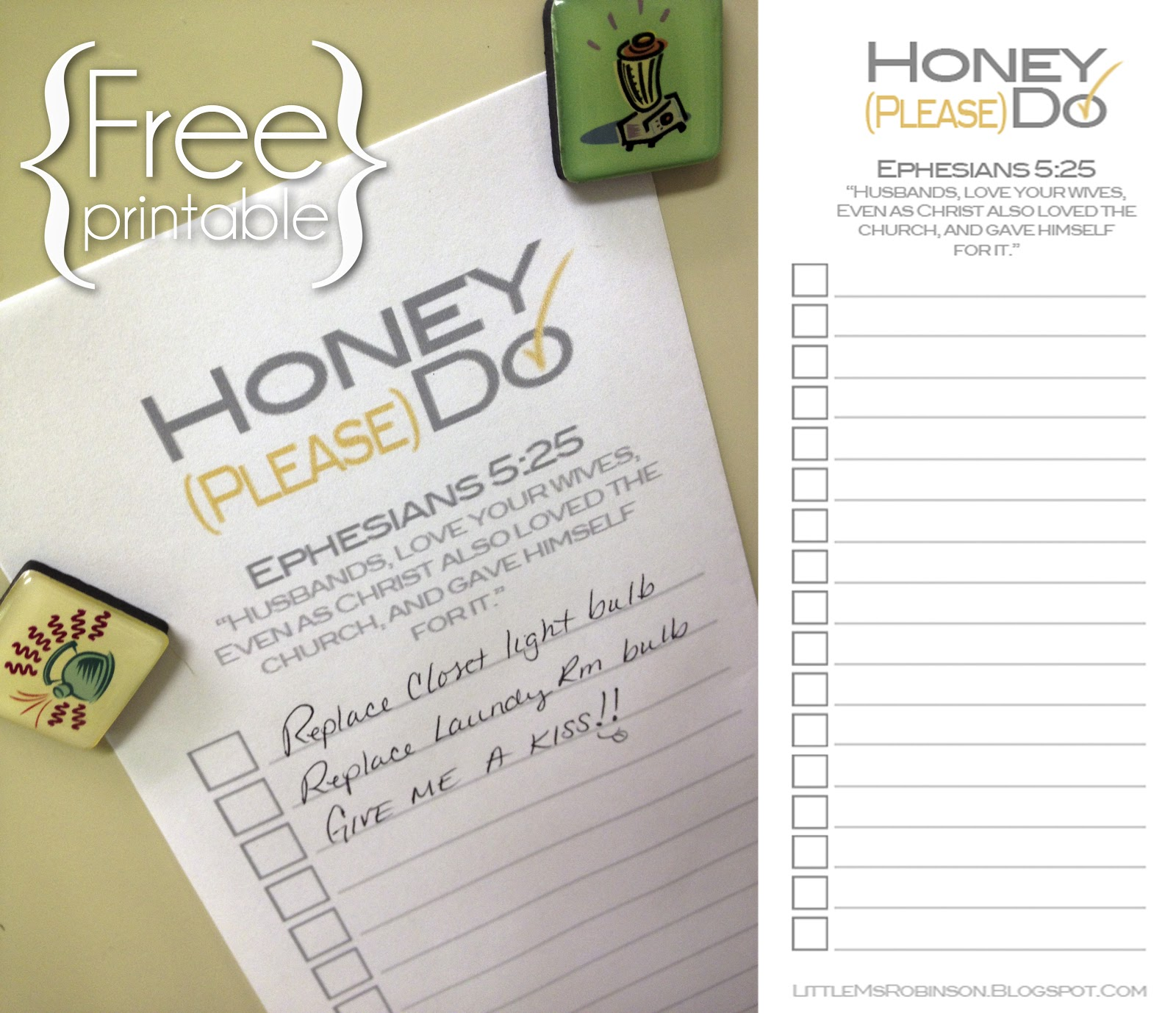 For The Love Of Tuesdays: Printable List for You & Your Honey