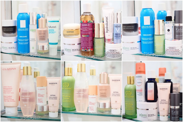 Skincare products from Kiehls, Clarins, Darphin, Weleda, La Roche Posay, Zelens, Kate Somerville, Tata Harper and Murad.