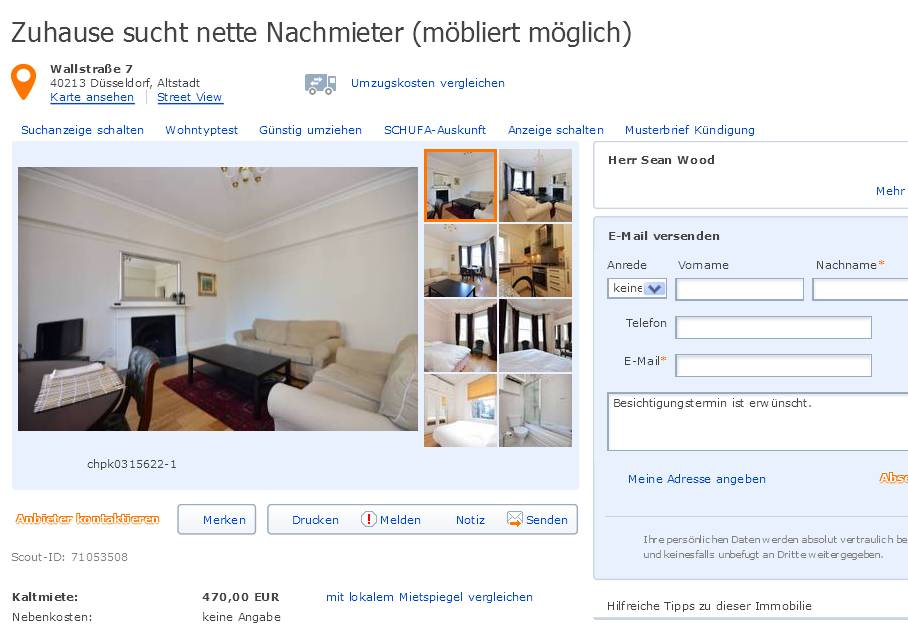 informationen ber wohnungsbetrug informations about rental scam seite 26. Black Bedroom Furniture Sets. Home Design Ideas