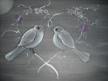 Cours peinture d corative meubles peints patin s set de for Peinture decorative meuble bois