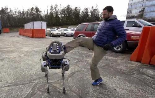 Robô da google com senso de equilíbrio incrível