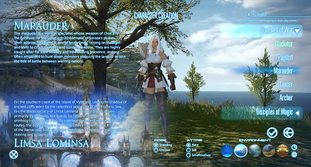 Final Fantasy XIV Character creation screen