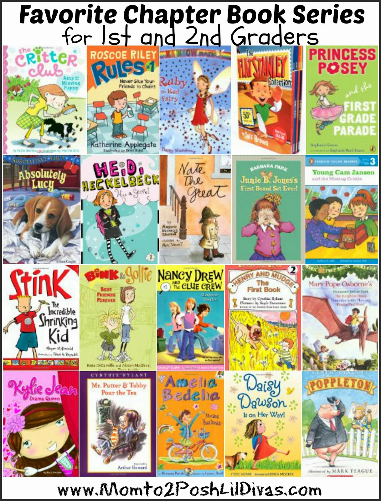 Mom to 2 Posh Lil Divas 20 Great Book Series for 1st thru 2nd Graders