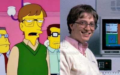 Bill Gates simpsons artis+kartun Tokoh tokoh selebriti dalam serial kartun The Simpson