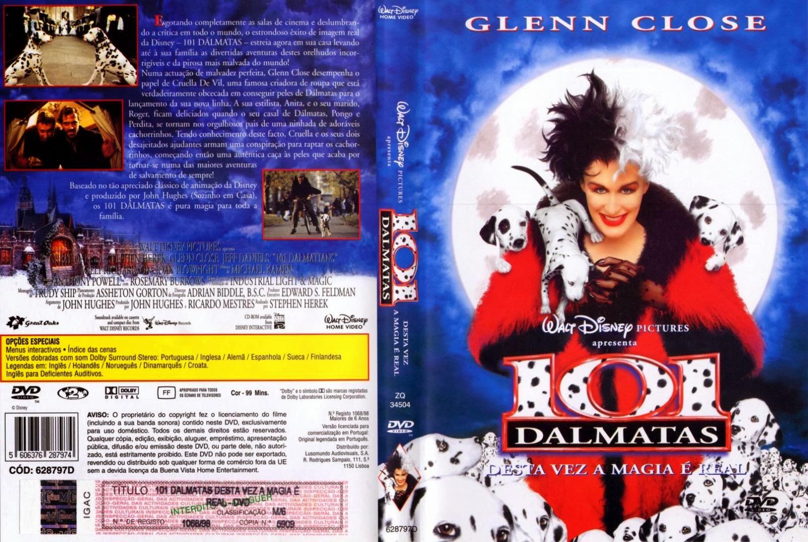 101 Dálmatas O Filme DVD Capa