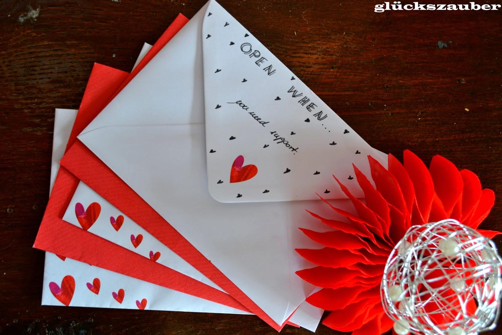 Briefe Dekorieren Zip : Glückszauber diy open when briefe und dekoration aus