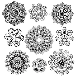 Free 9 Digi Stamps Lace.