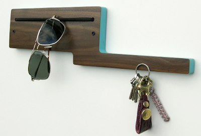 wall-mounted storage for keys, sunglasses, etc.