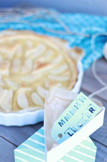 pie cake box, kuchen verschenken, tarte aux pommes