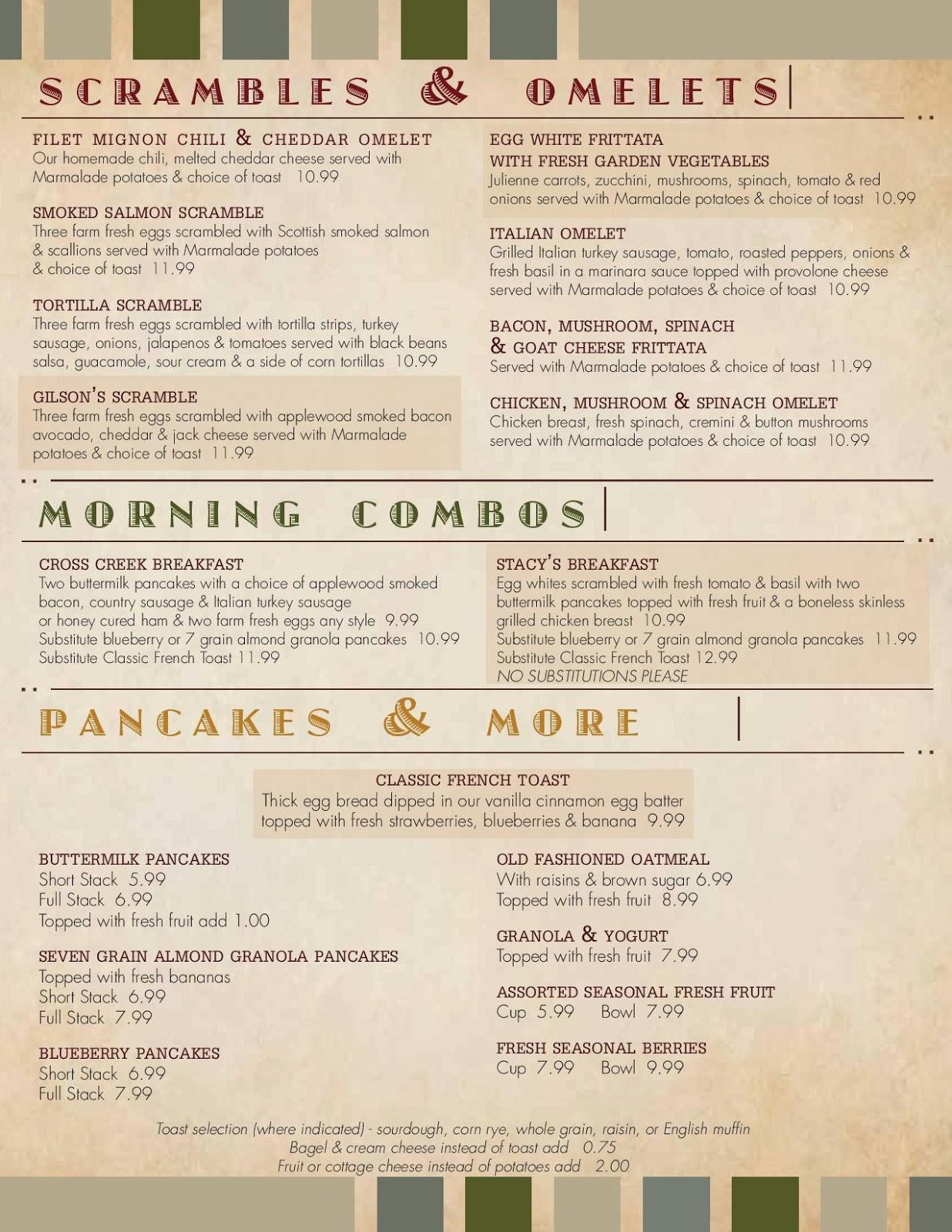Marmalade Cafe Menu Thousand Oaks