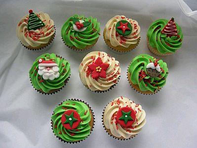 Muyameno Com Cupcakes O Magdalenas De Navidad Parte 1