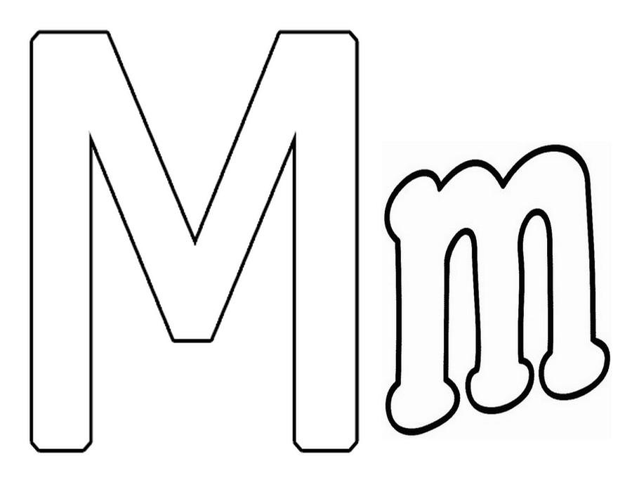 Letras M Para Imprimir Imagui