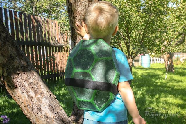 панцирь черепашки-ниндзя для сына своими руками