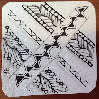 Diva Challenge #235, Meer, Rain, Zentangle, Light to go places