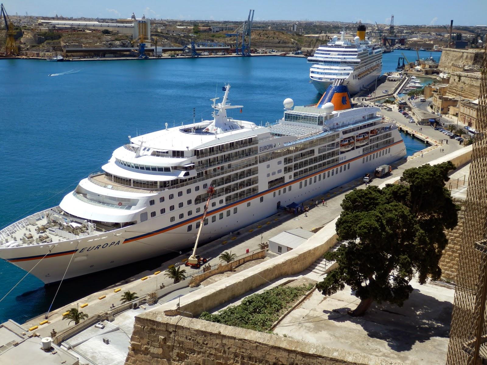 Cruise ships at Valletta Malta