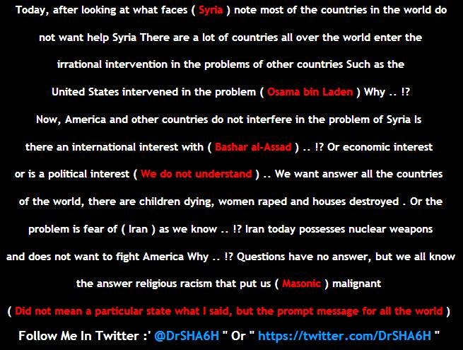Several indian government websites hacked and defaced by DR.SHA6H, DR.SHA6H posts pro rebels message and videos depicting violences happening in Syria