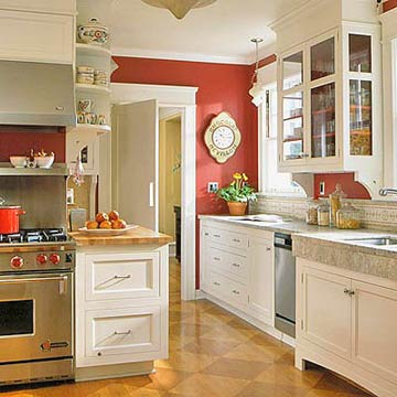 Modern furniture red kitchen decorating ideas 2012 - White kitchen red accents ...