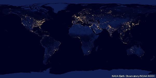 Terra à noite