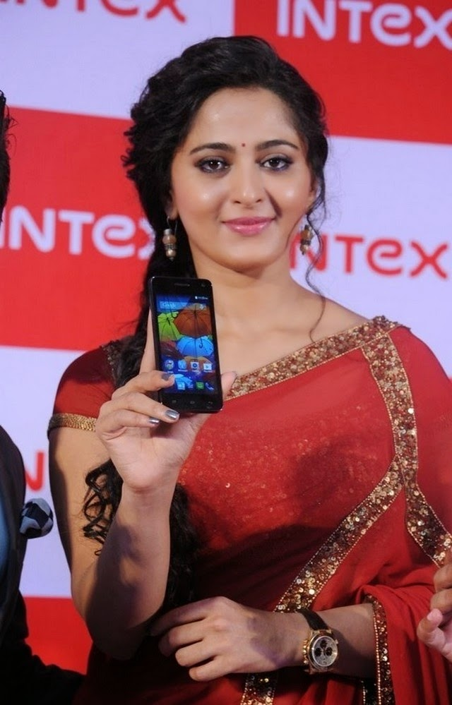 Anushka Shetty at INTEX Launch Event Stiils