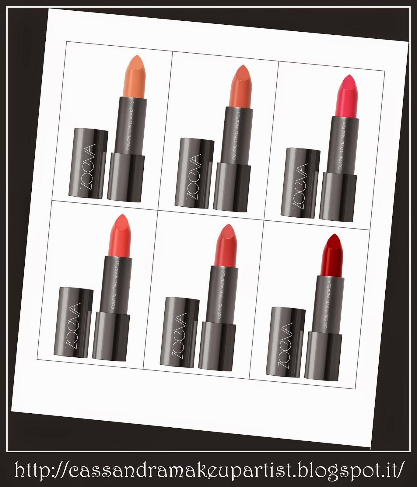 ZOEVA - luxe cream lipstick - vegan bio crueltù free - rossetto