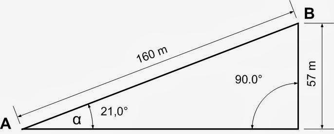 Чертеж размеров и наклона плоский вершины Пидурангалы в проекции вид с боку