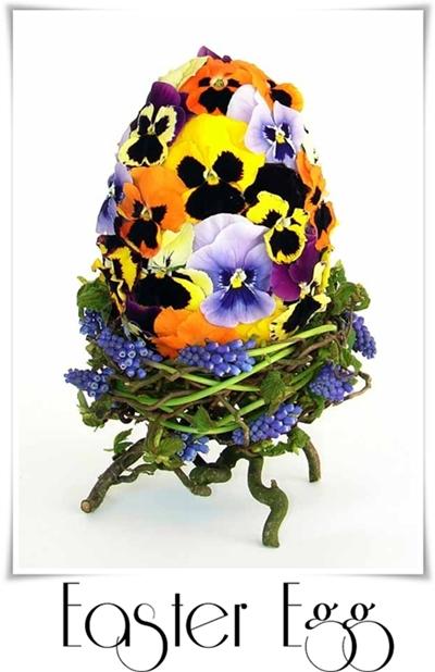 påskägg, påskägg med blommor, annorlunda påskägg, easter egg with flowers
