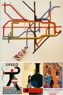 Рекламные постеры лондонского метро (ретро)