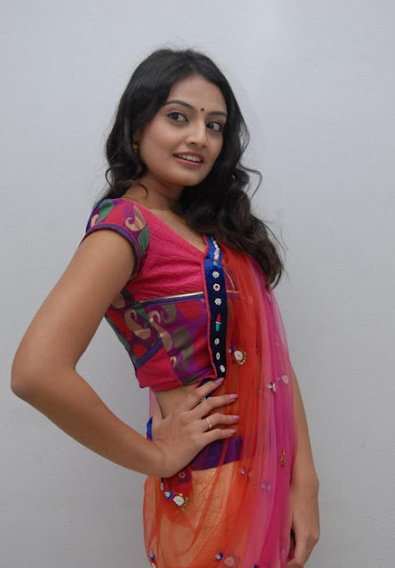 Actress Nikitha Narayan Saree Below Navel Show Photos