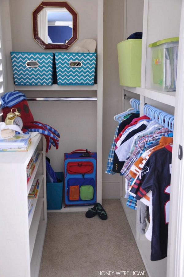 Tips to get you organized in the new year- including Kid Closet Organization