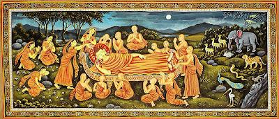 Patachitra Art Reclining Buddha