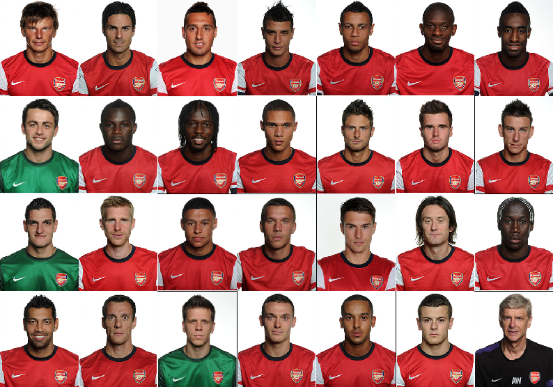 Arsenal FC first team squad wallpaper for 2012-2013 season