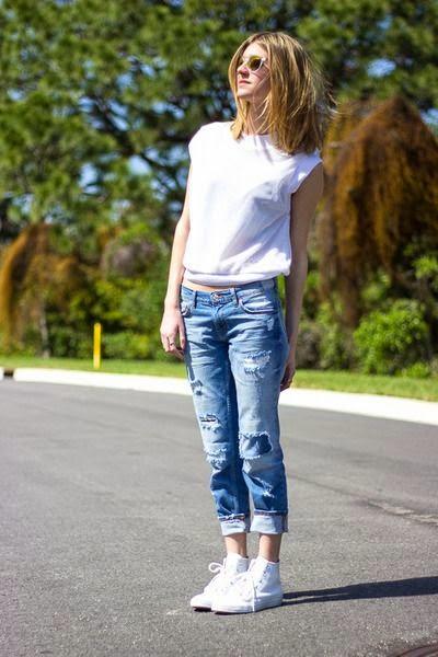 Etrala London Blog : DIY: Distressed Boyfriend Jeans