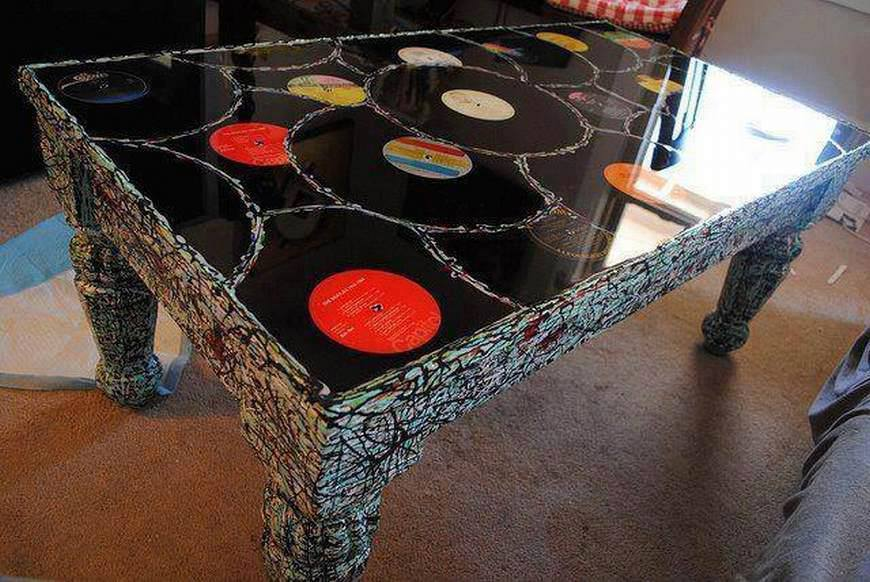 vinyl philosophy things to do with old vinyl records 1 tables. Black Bedroom Furniture Sets. Home Design Ideas