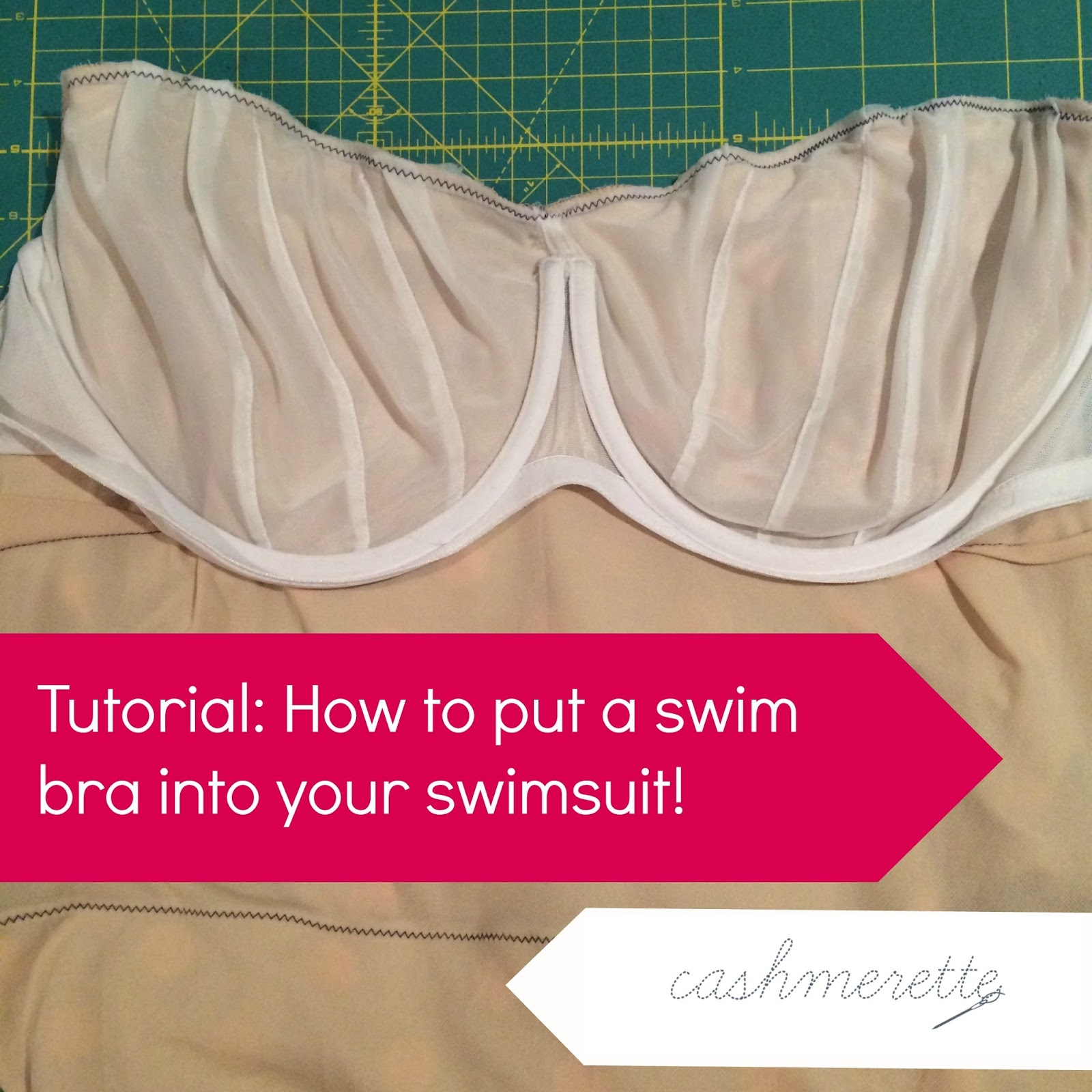Mini tutorial: Putting a swim bra into a swimsuit ...