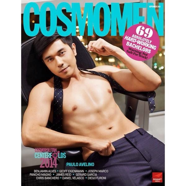 Paulo Avelino covers Cosmo Men Sept 2014