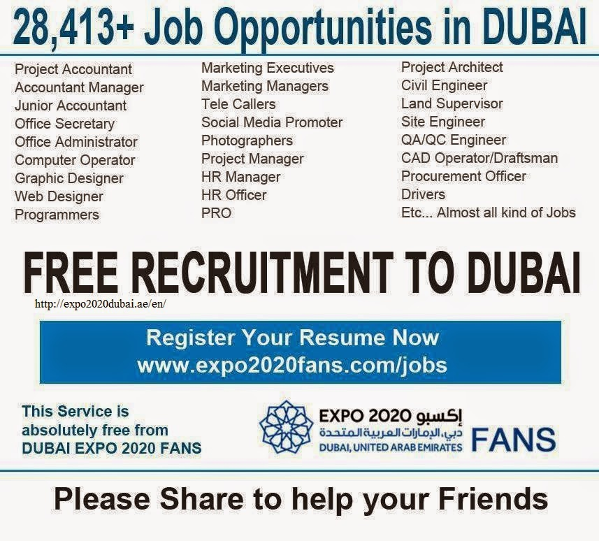 Jobs Opportunities in Dubai