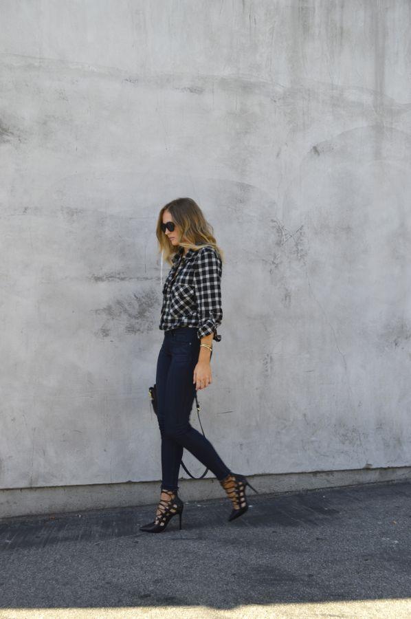 Golden Divine Blog- Paige Denim Raw Hem- Sanctuary Boyfriend Shirt- Fall Style- How To Wear a Flannel Shirt- Los Angeles Fashion Blogger-Ashley Murphy