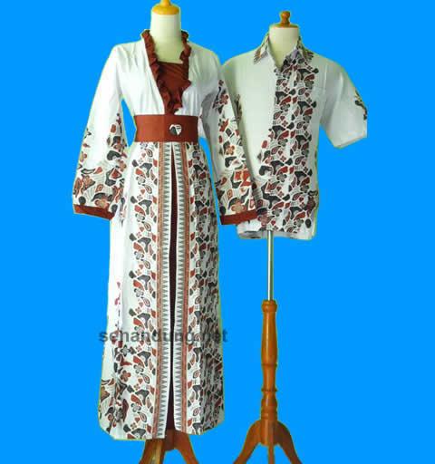 Model gamis batik sarimbit pasangan modern terbaru murah Baju gamis couple online
