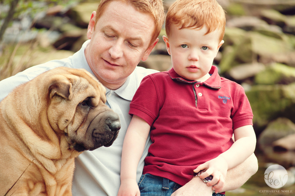 Child Photography Engagement Session Shar Pei puppy Manchester
