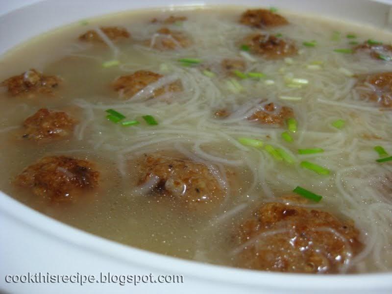 how to cook misua with pork