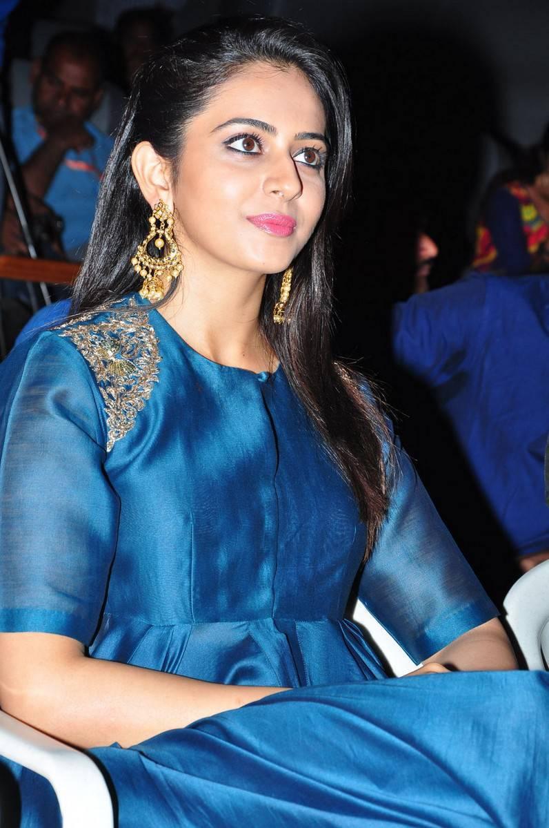 Rakul Preet Singh In Photos Blue Dress