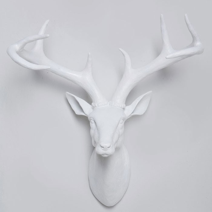 deer head, resin deer antlers, wall decor