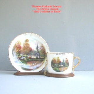 Buy a Thomas Kinkade Aspen Chapel Teacup Display