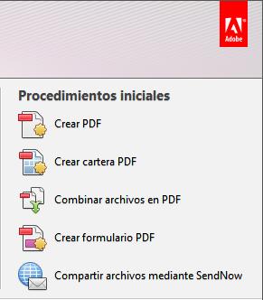 Combinar archivos PDF Acrobat