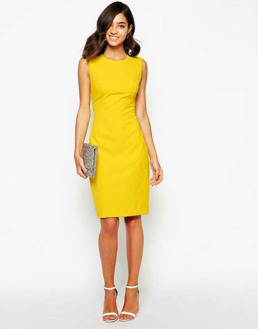 yellow karen millen dress