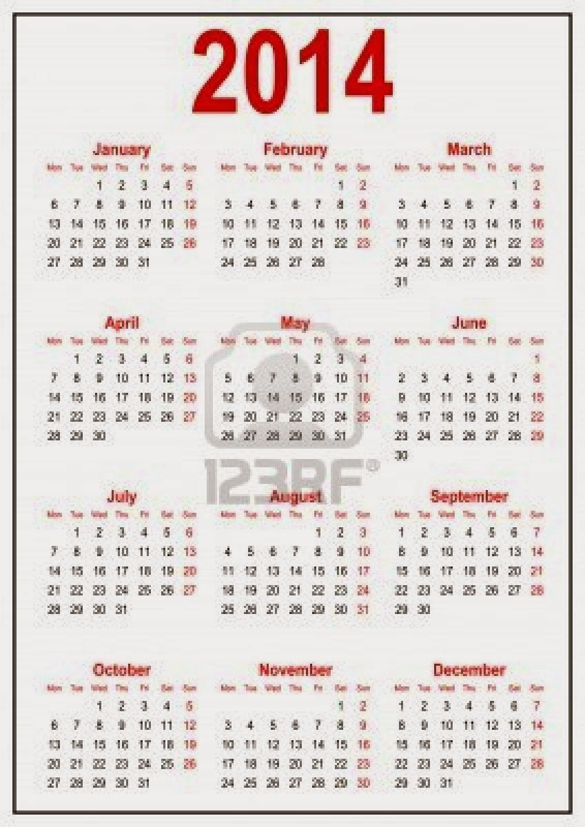 تقويم 2014 - التقويم الهجري 1435 - التقويم ...