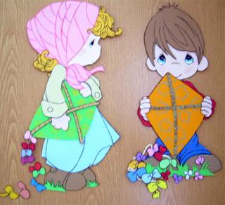 Plaquinhas de crianças em E.V.A para porta de quartos