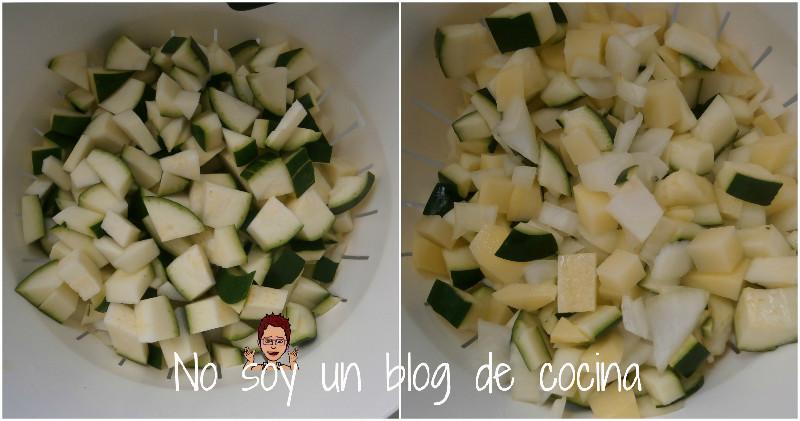 Tortilla de patatas con calabacín