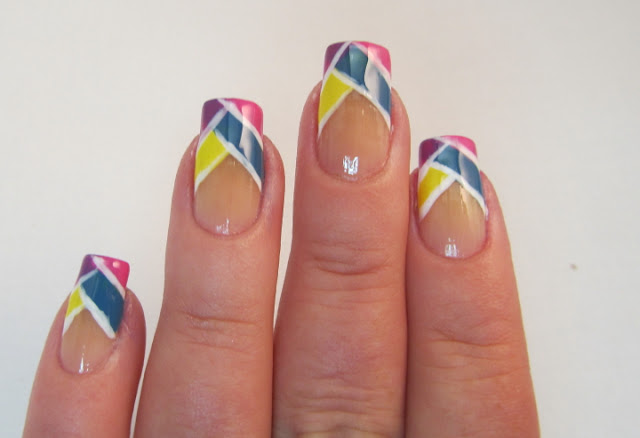 Colorblocked nail art
